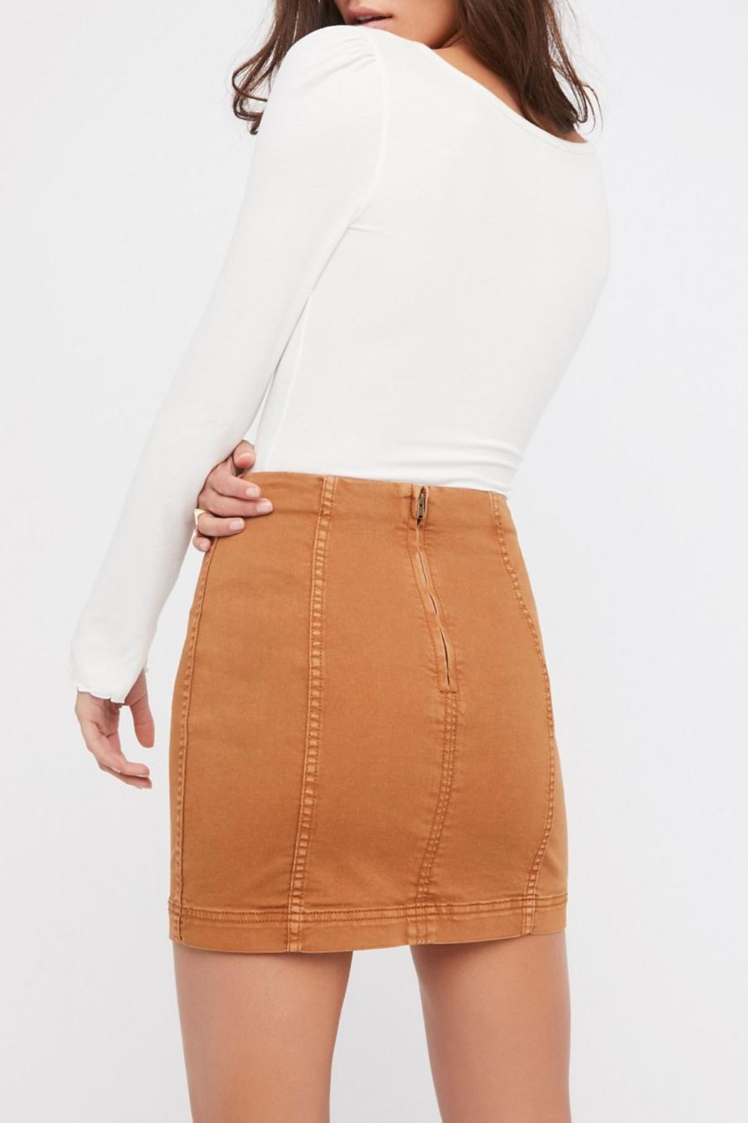 Free People Modern Femme Denim Skirt - Front Full Image