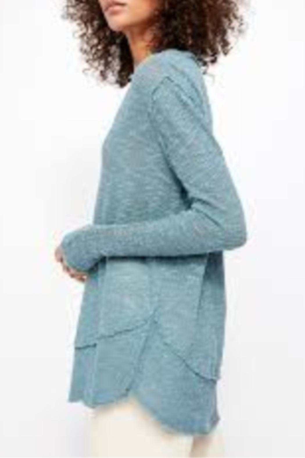 Free People Ocean Air Hacci Sweater - Front Full Image