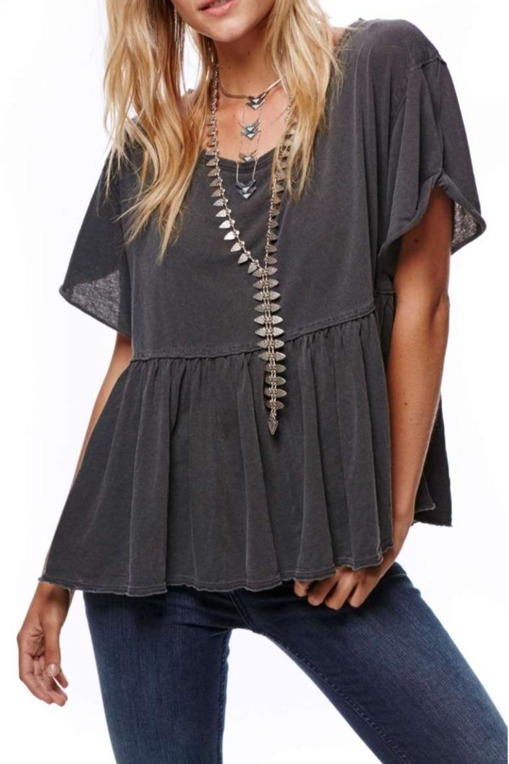 Free People Odyssey Tee - Front Cropped Image