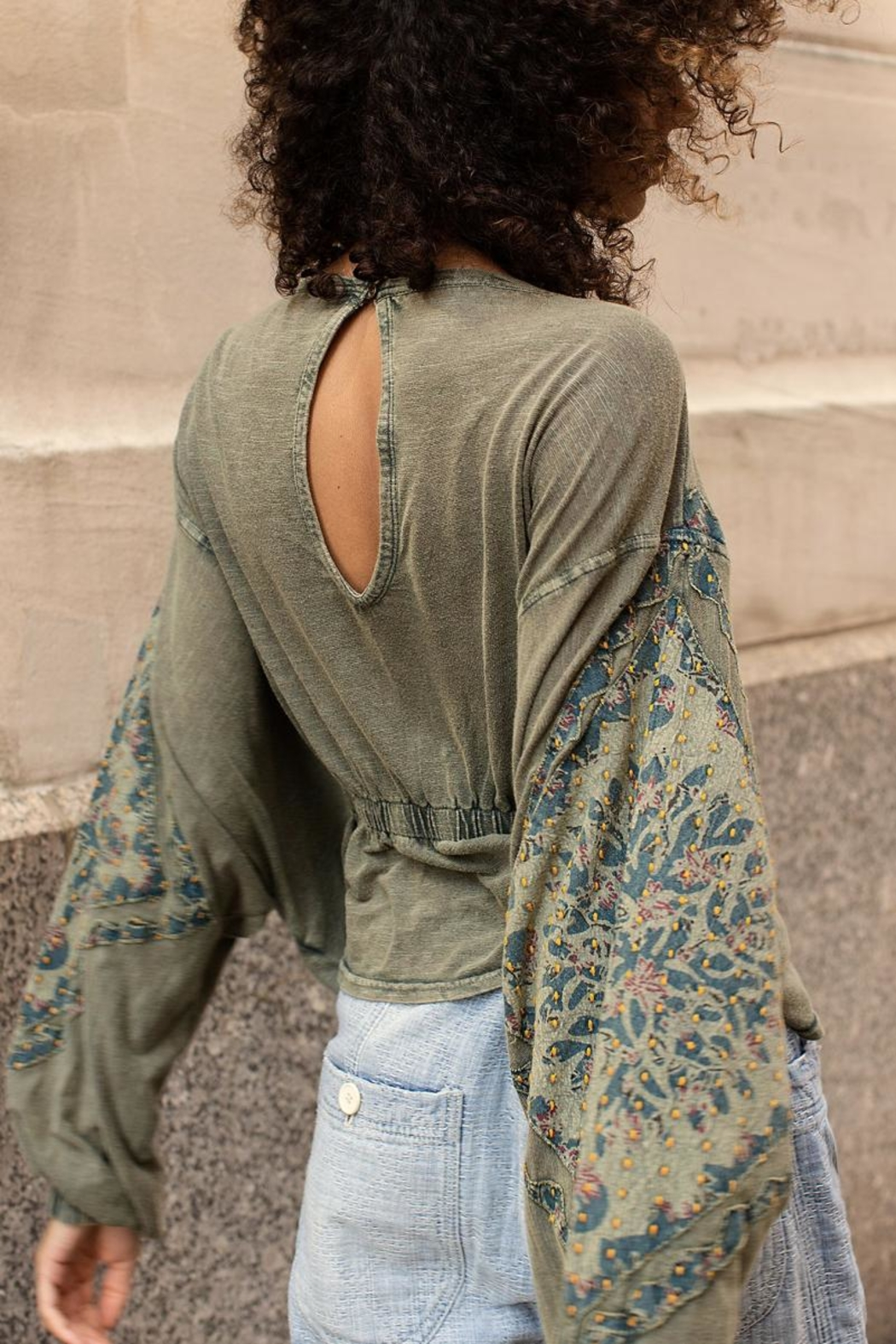 Free People Olive Tunic Top - Front Full Image