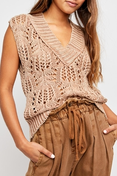 Free People Orchid Pointelle Vest - Product List Image