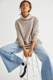Free People Ottoman Slouchy - Oyster - Product Mini Image