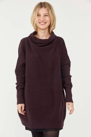 Free People Ottoman Slouchy Tunic - Black Raisin - Front cropped