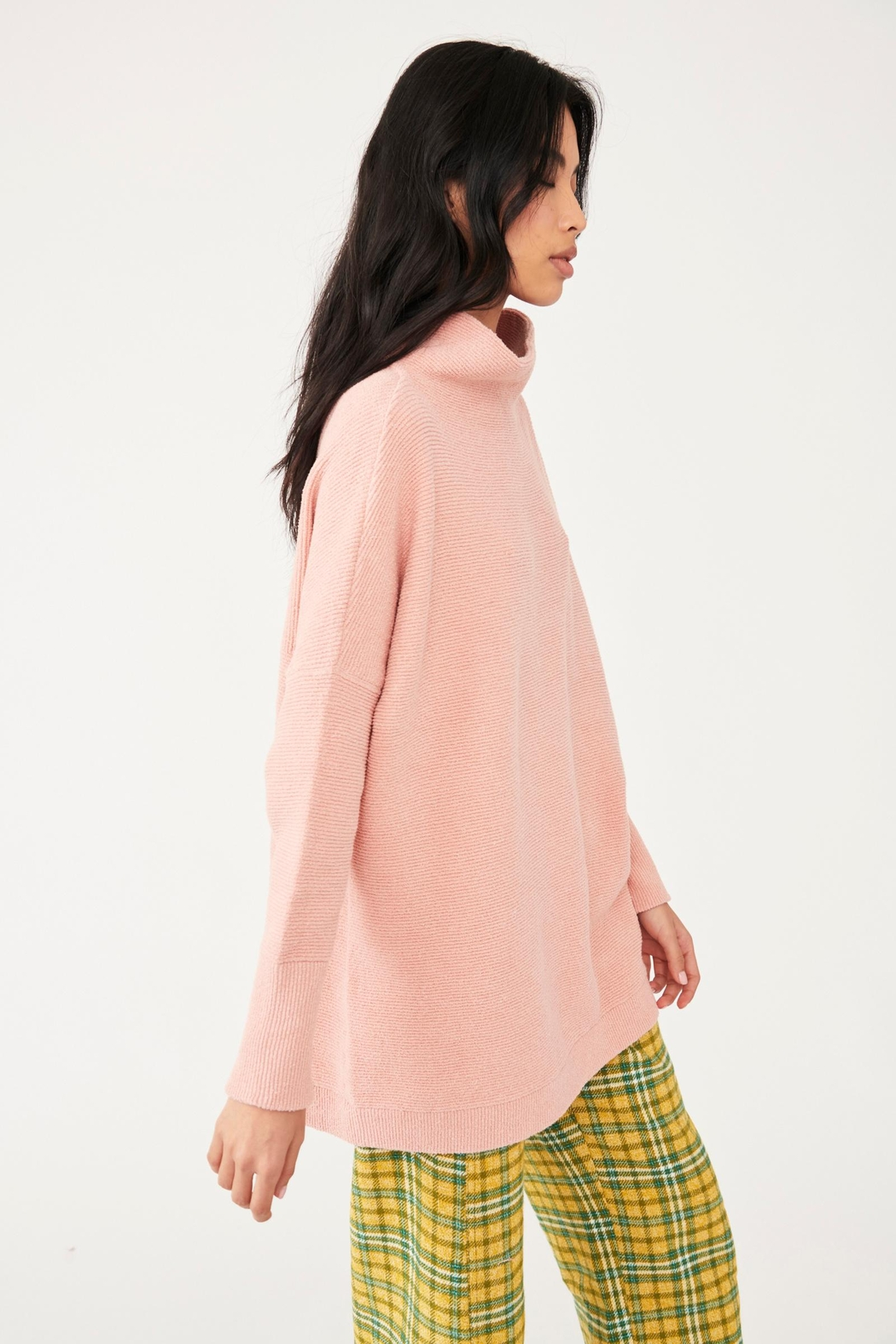 Free People Ottoman Slouchy Tunic - Dusty Pink - Side Cropped Image