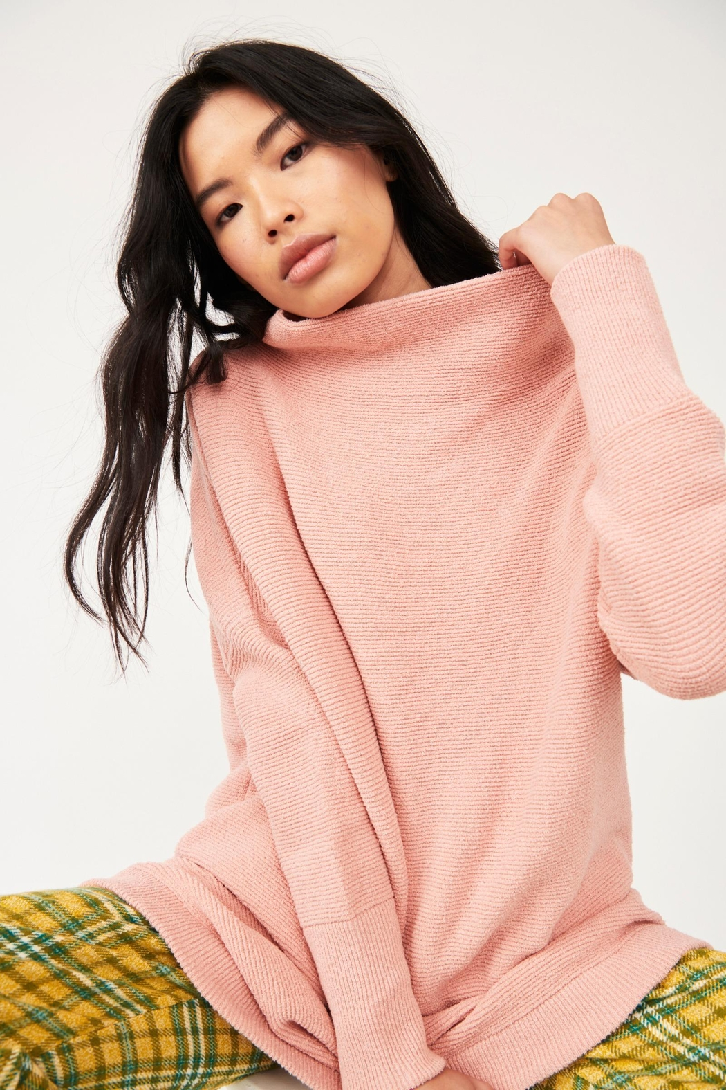 Free People Ottoman Slouchy Tunic - Dusty Pink - Front Full Image