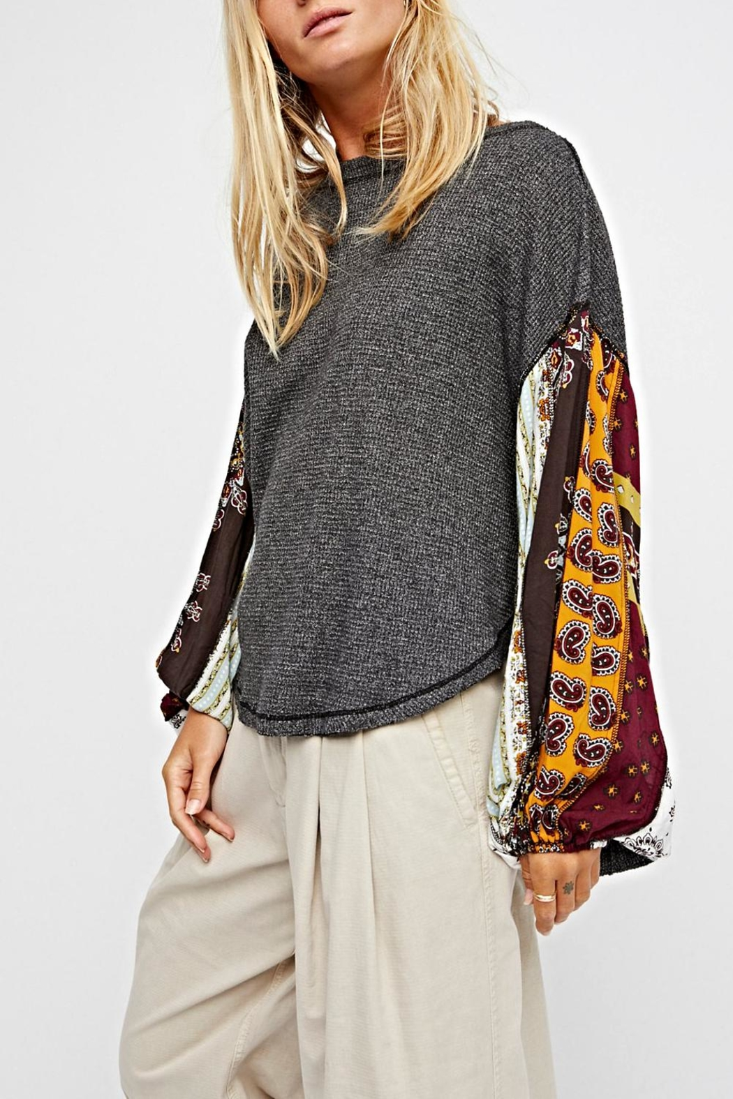 Free People Oversized Thermal Top - Main Image