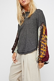 Free People Oversized Thermal Top - Front cropped