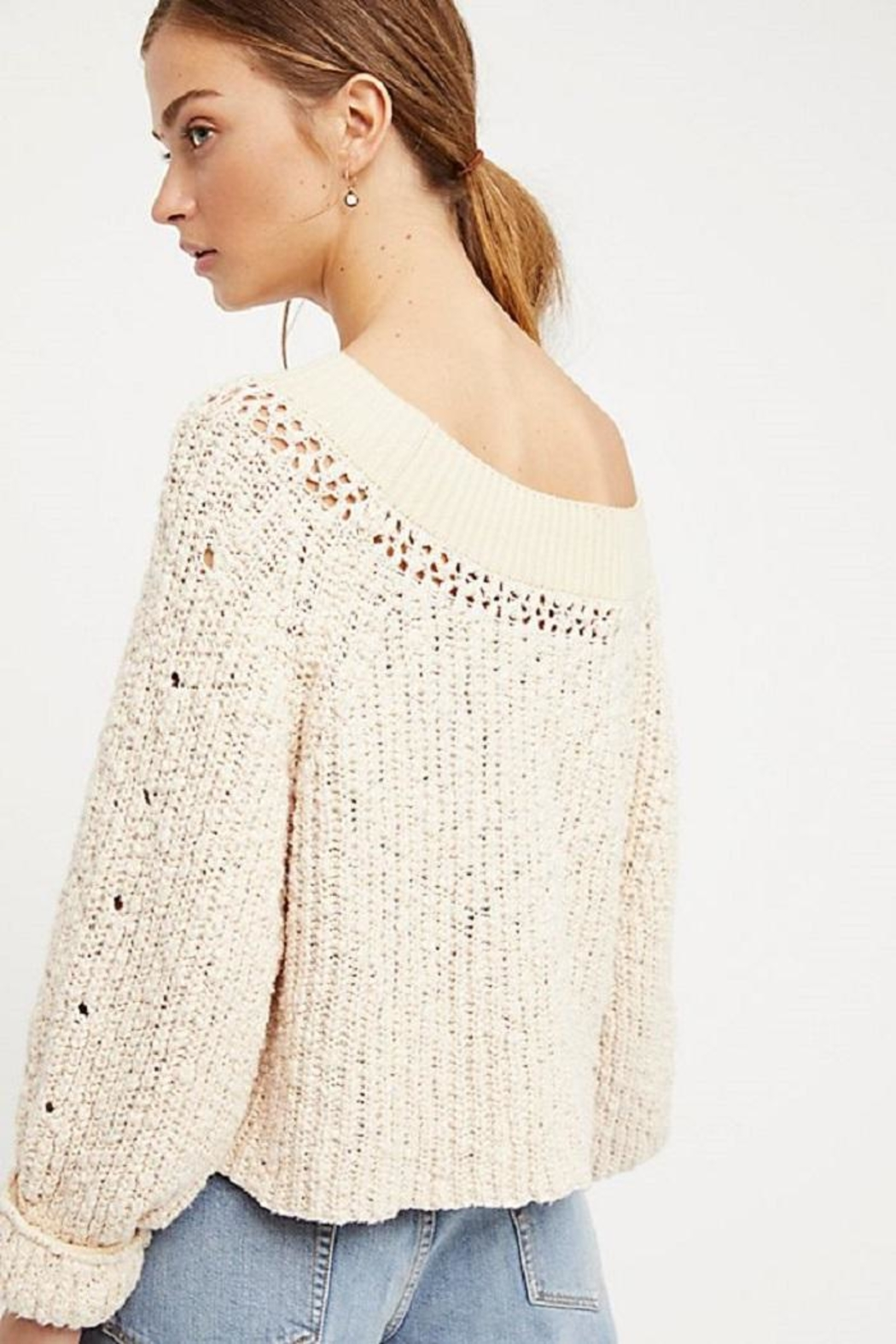 Free People Pandora's Boatneck Sweater - Front Full Image