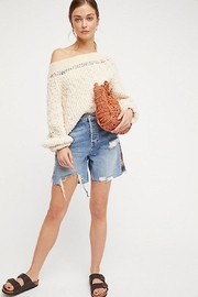 Free People Pandora's Boatneck Sweater - Back cropped