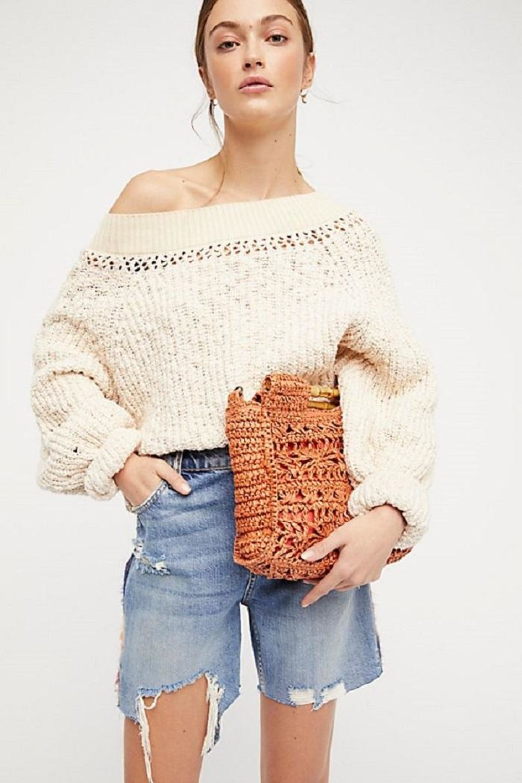 Free People Pandora's Boatneck Sweater - Front Cropped Image