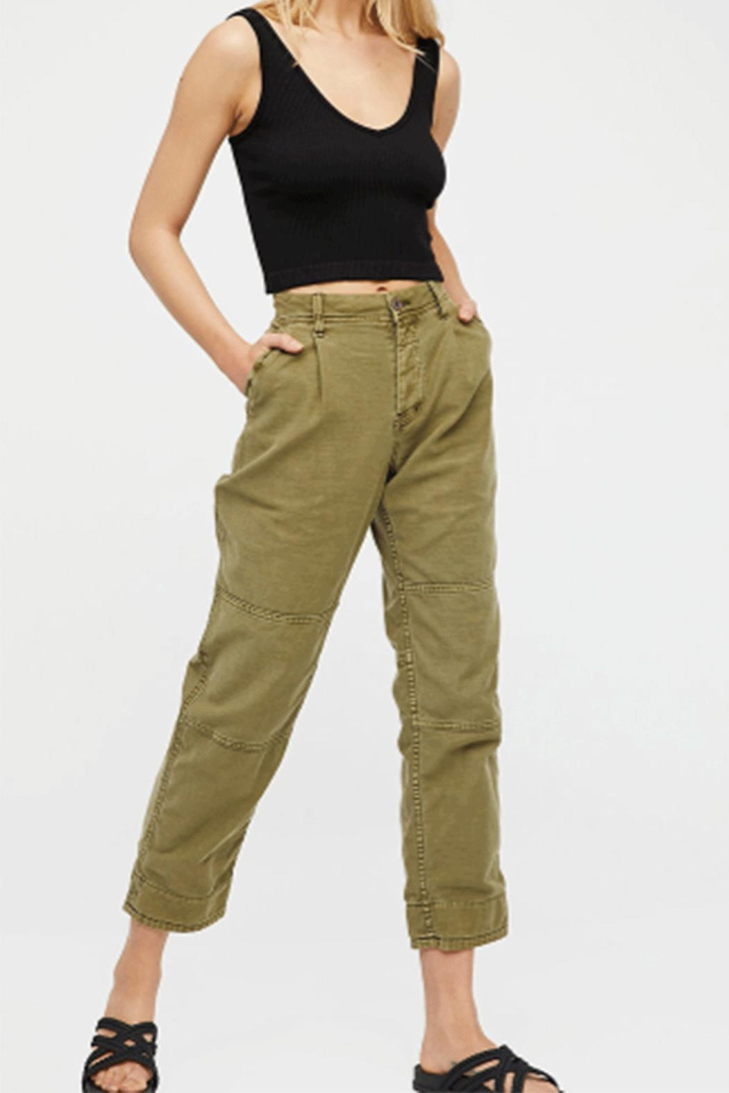 Free People Pant Utility Bf - Front Cropped Image