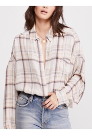 Free People Plaid Buttondown Top - Product Mini Image
