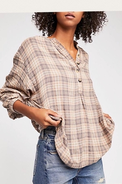 Shoptiques Product: Plaid Half-Button-up top