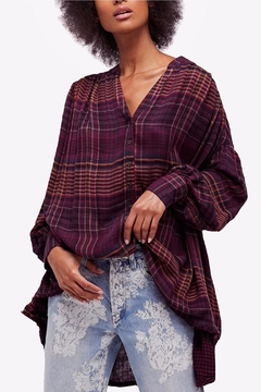 Shoptiques Product: Pleated Button Down Top