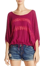 Free People Plum Lace Top - Product Mini Image