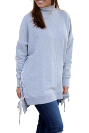 Free People Plush Gray Pullover - Product Mini Image