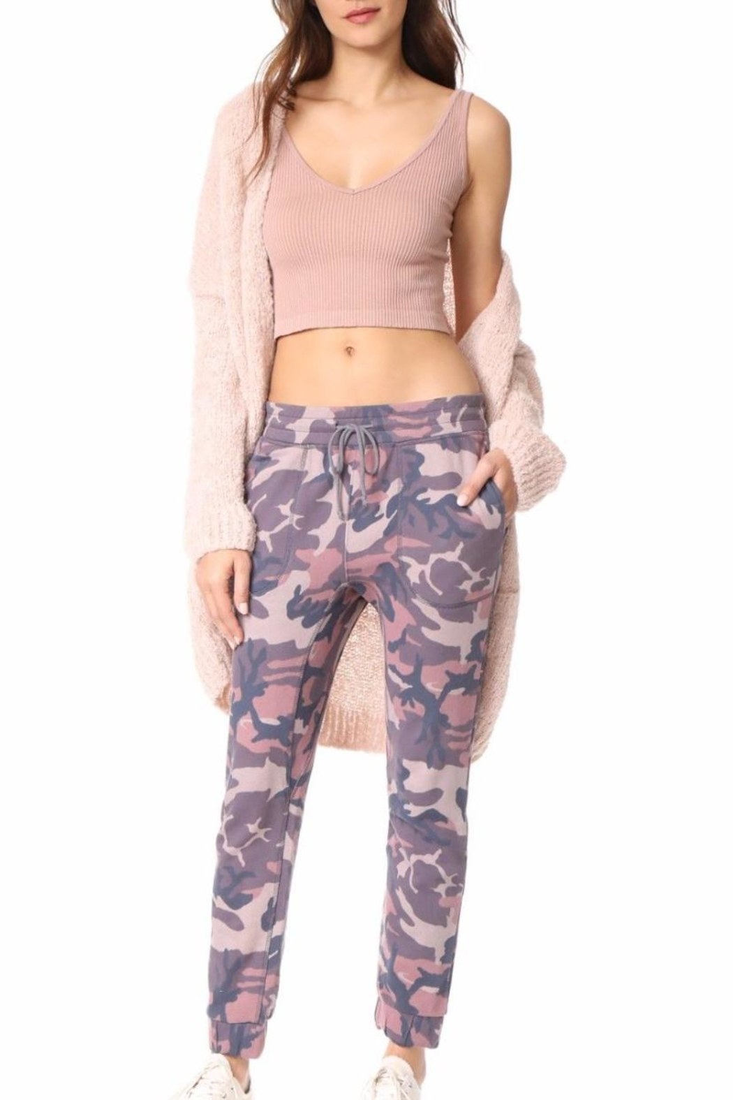 Free People Printed Camo Jogger - Side Cropped Image