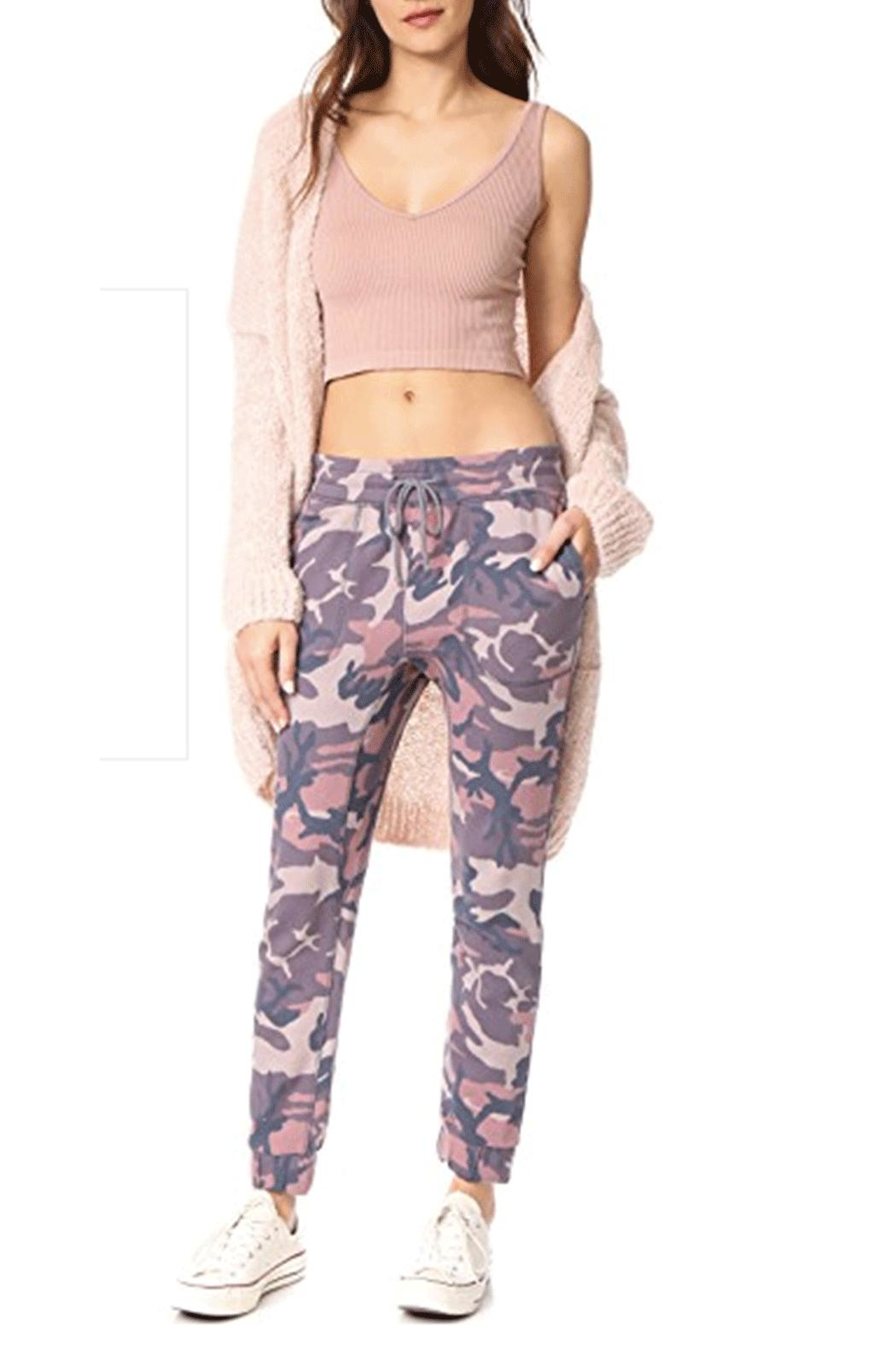 Free People Printed Camo-Scout Jogger - Side Cropped Image