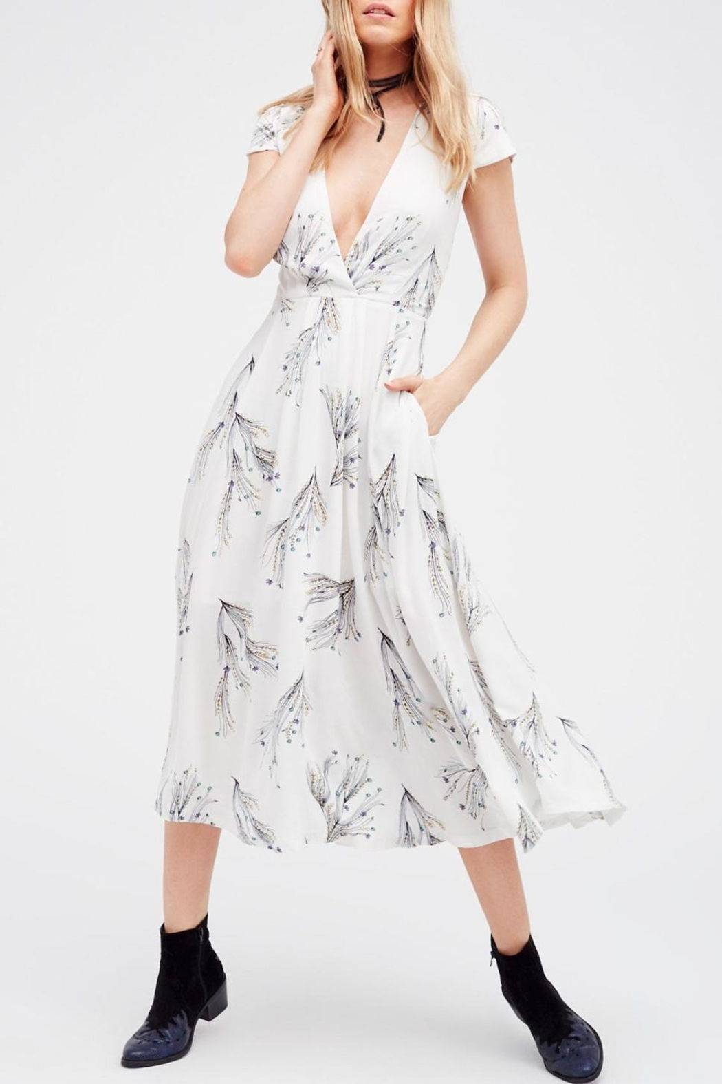 Free People Printed Retro Midi - Main Image