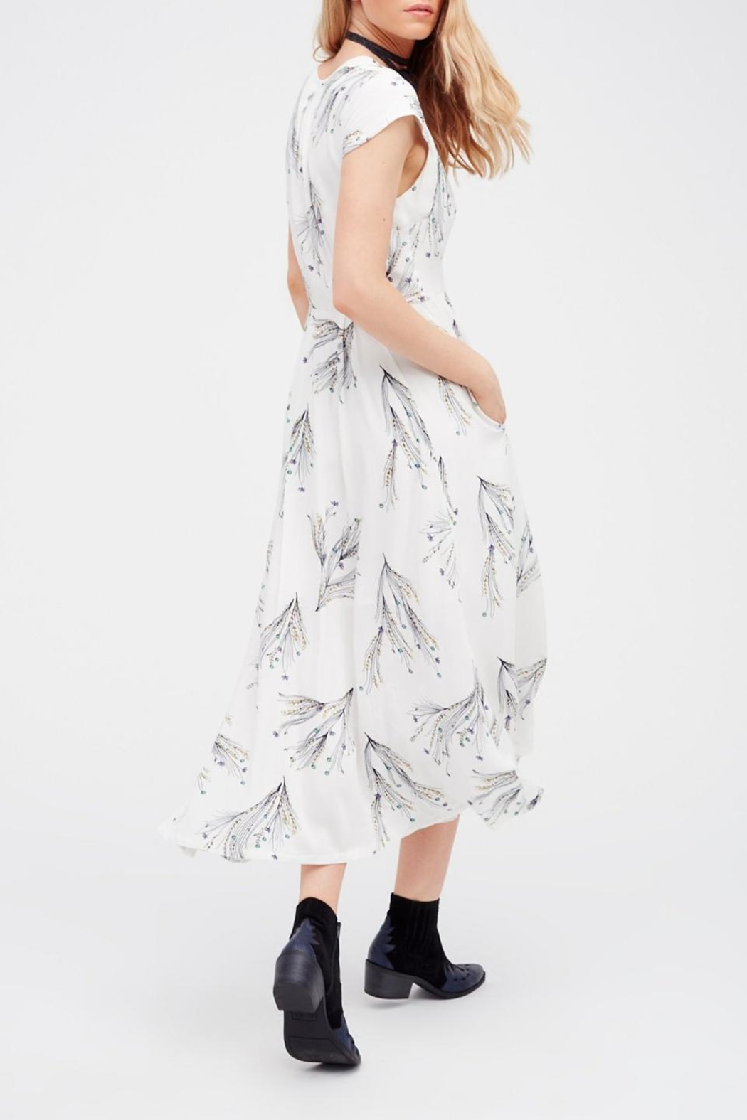 Free People Printed Retro Midi - Front Full Image