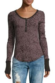 Free People Printed Thermal Henley - Product Mini Image