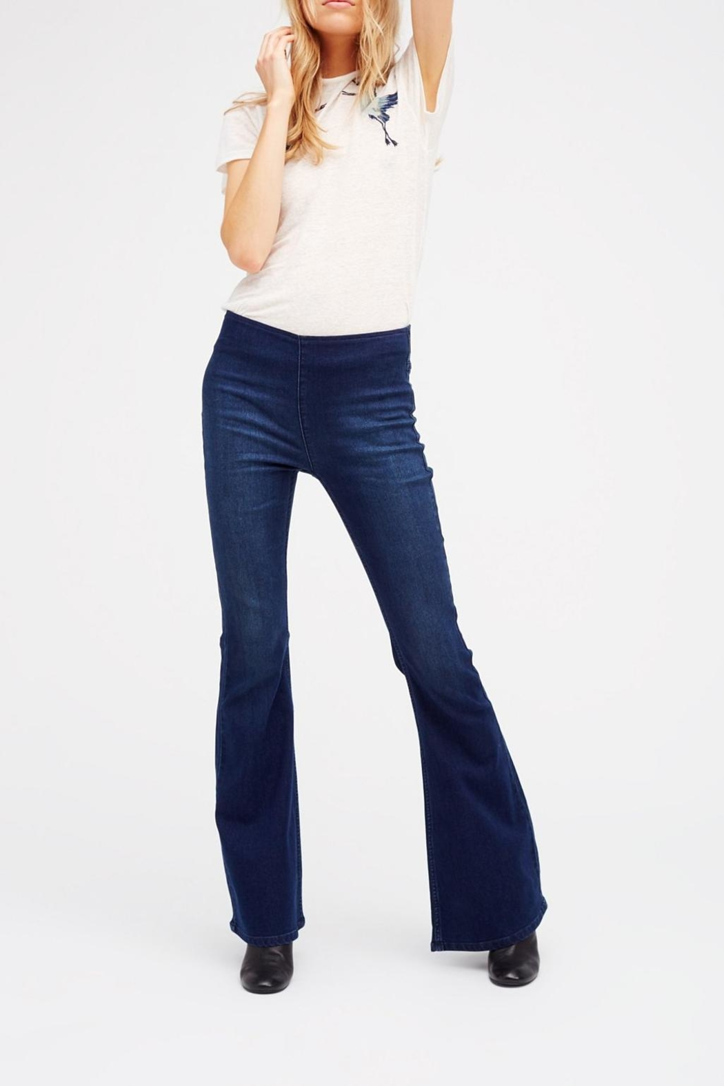 Free People Pull On Flare Jeans - Main Image