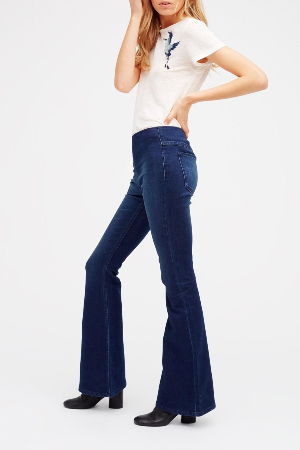 Free People Pull On Flare Jeans - Side Cropped Image