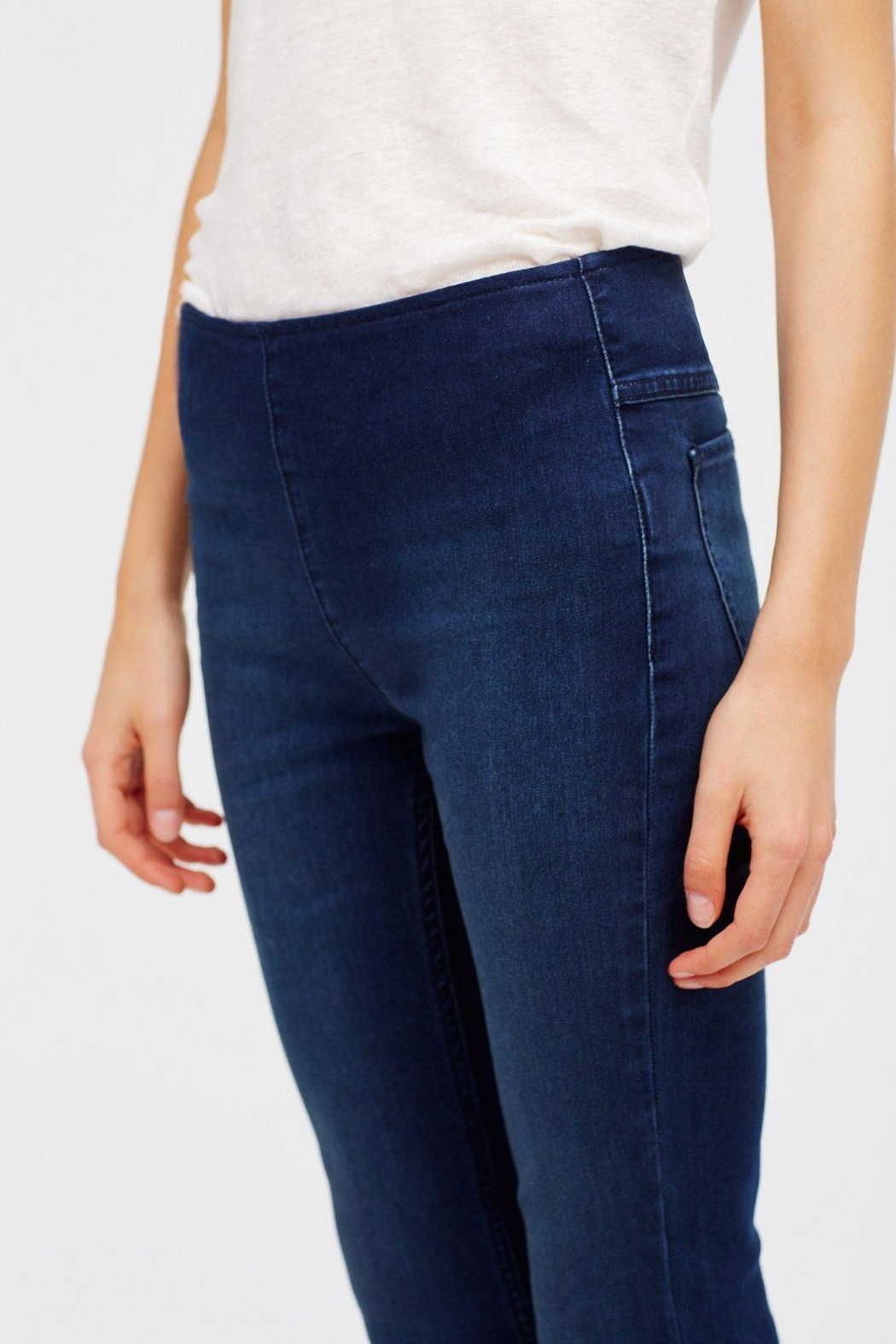 Free People Pull On Flare Jeans - Back Cropped Image