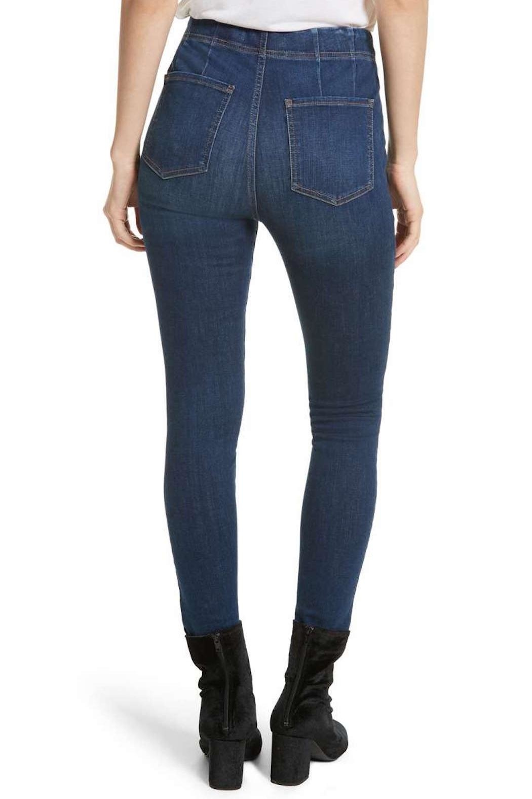 Free People Pull-On Skinny Jean - Front Full Image