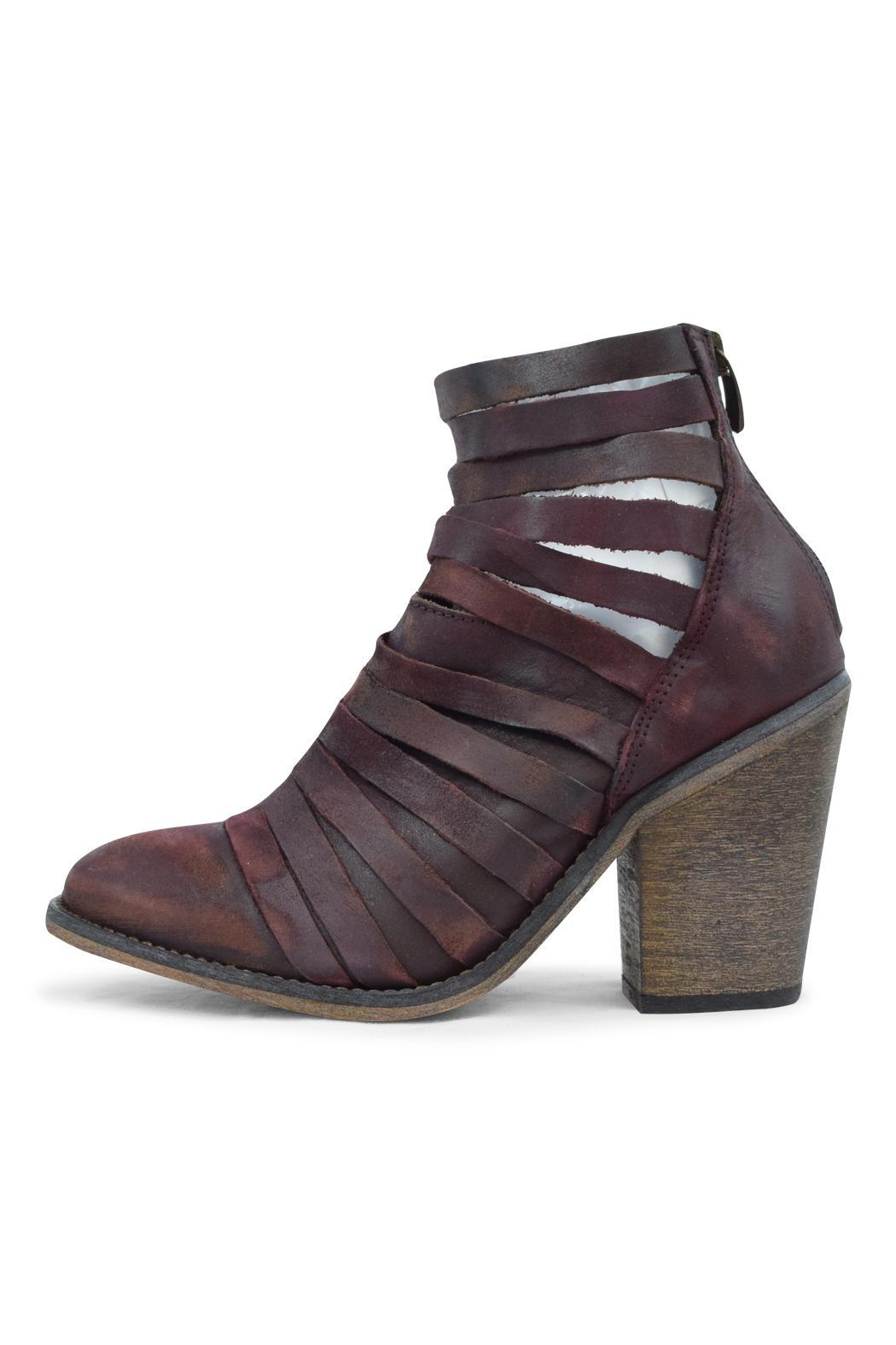 Free People Aubergine Strappy Bootie - Main Image