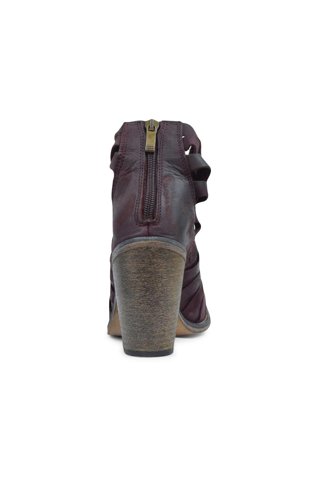 Free People Aubergine Strappy Bootie - Front Full Image