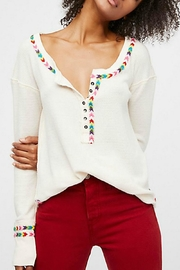 Free People Rainbow White Thermal - Front cropped