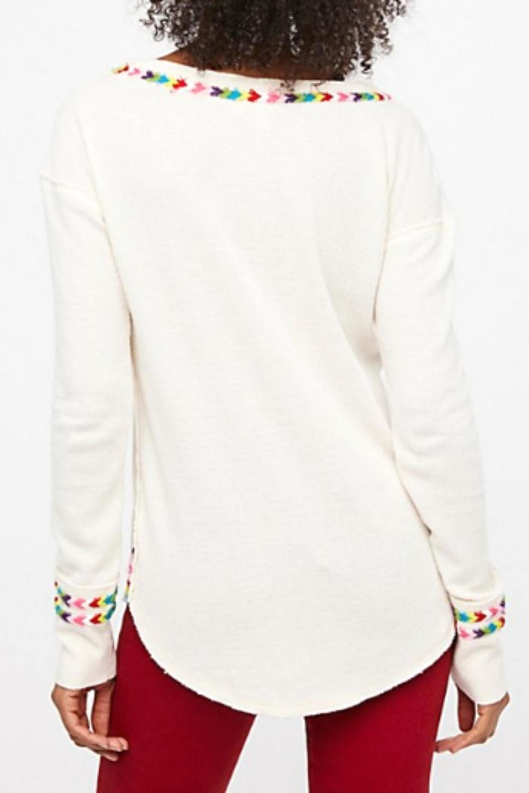 Free People Rainbow White Thermal - Front Full Image