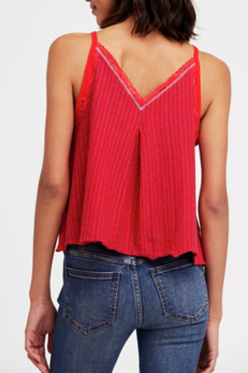 Free People Red Anna Tank - Front Full Image