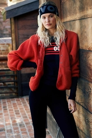 Free People Red Fleece Jacket - Product Mini Image