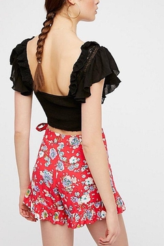 Free People Red Floral Shorts - Alternate List Image