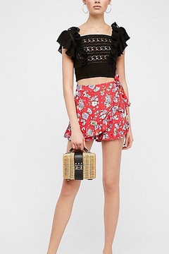 Free People Red Floral Shorts - Product List Image