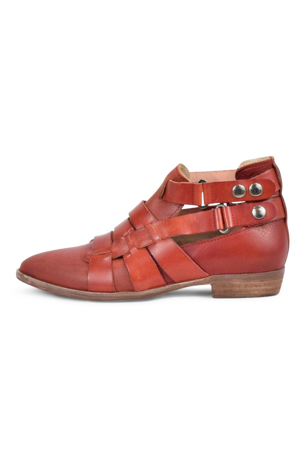 Free People Red Leather Bootie - Main Image