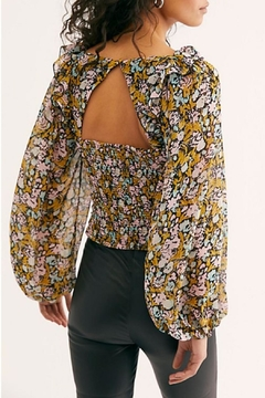 Free People Ruched Printed Blouse - Alternate List Image