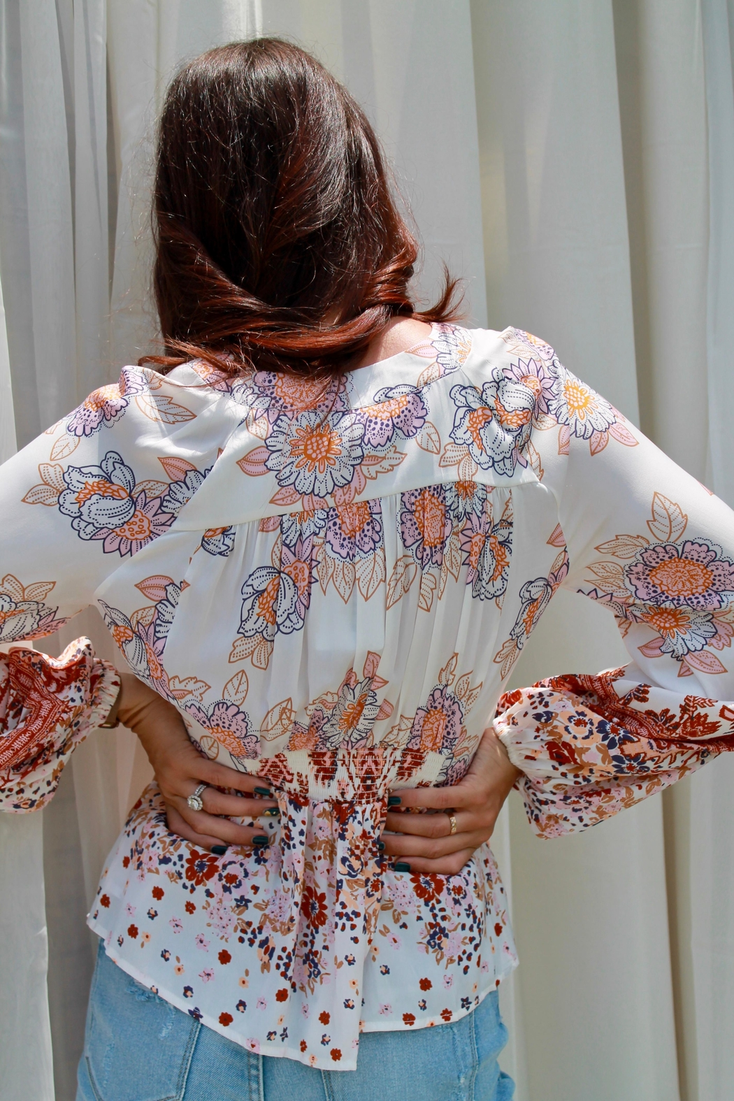 Free People Run Free Blouse - Side Cropped Image
