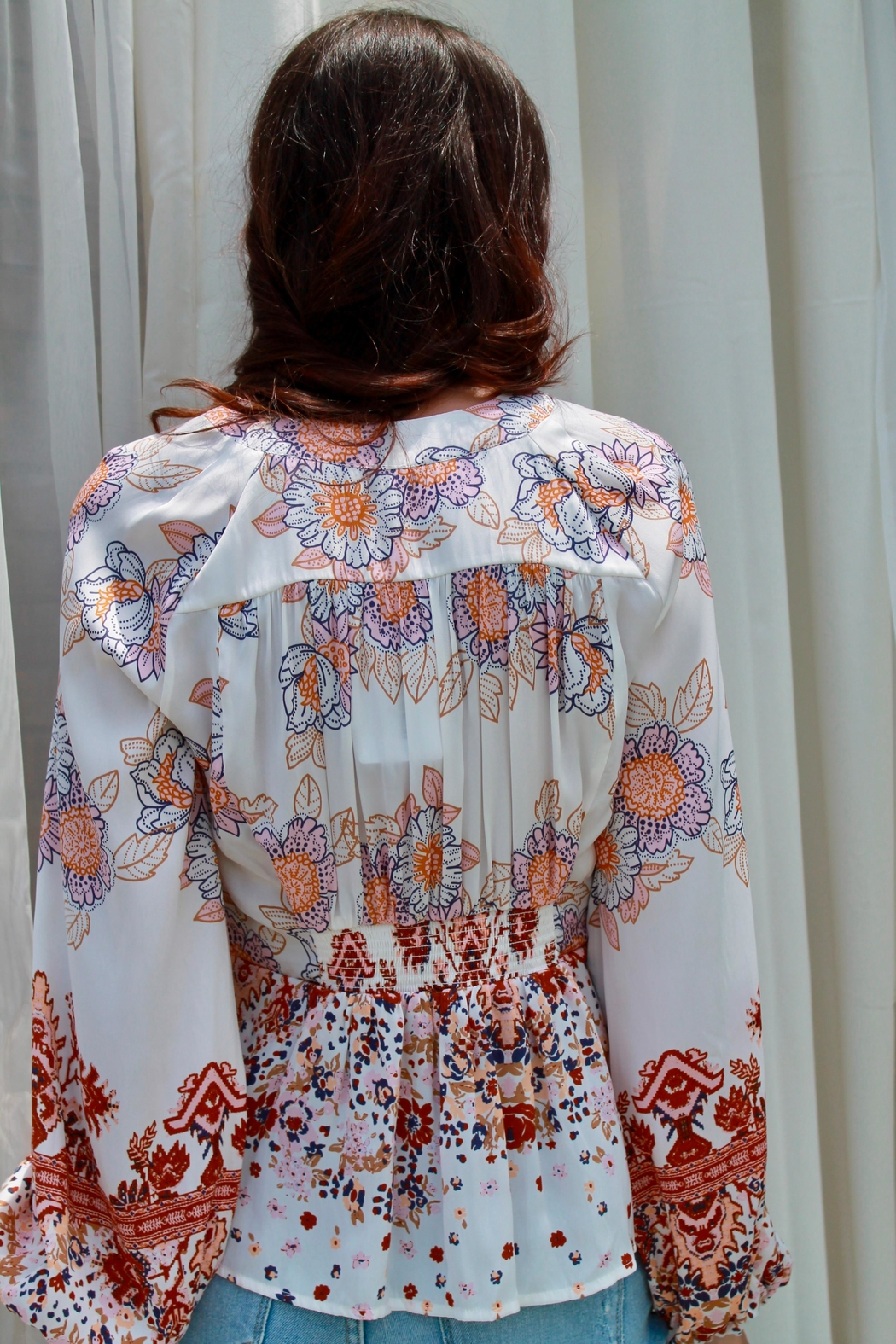 Free People Run Free Blouse - Front Full Image