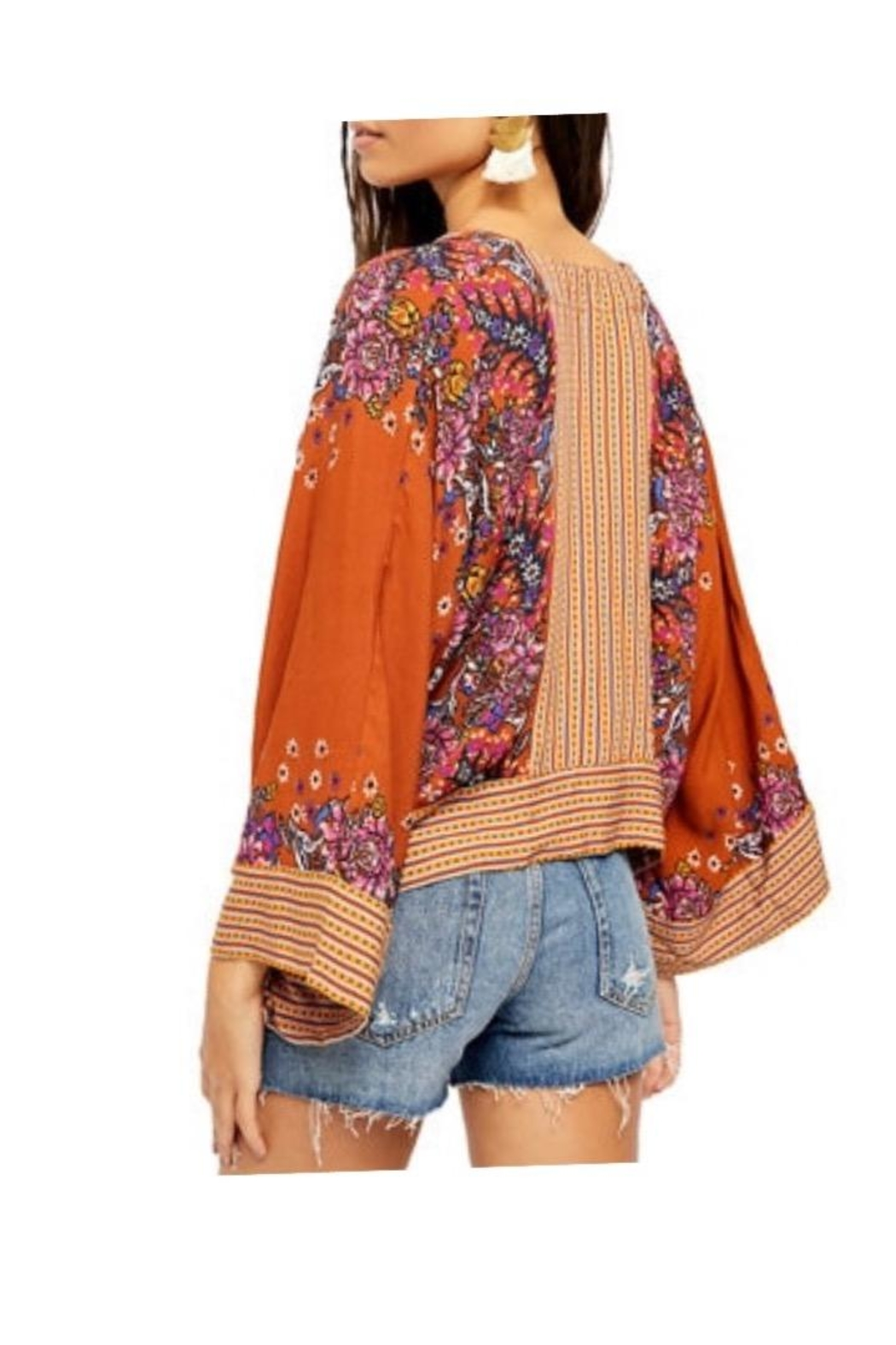 Free People Rust Combo Top - Front Full Image