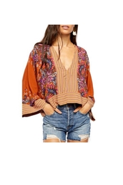 Free People Rust Combo Top - Front cropped