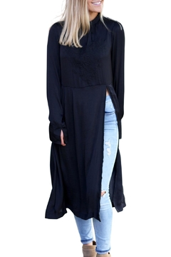 Free People Satin Embroidered Tunic - Product List Image