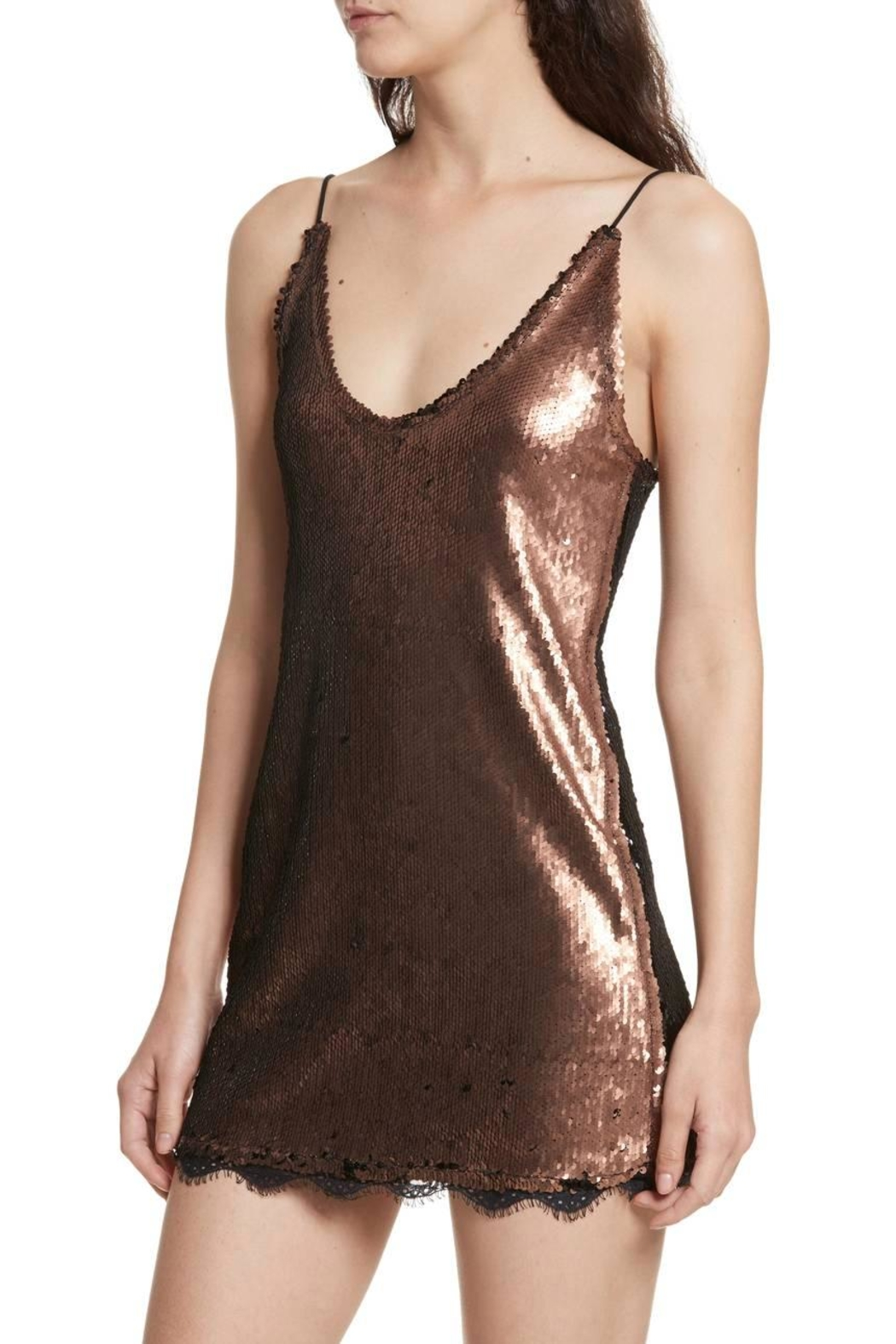 Free People Seeing Double Sequin - Back Cropped Image
