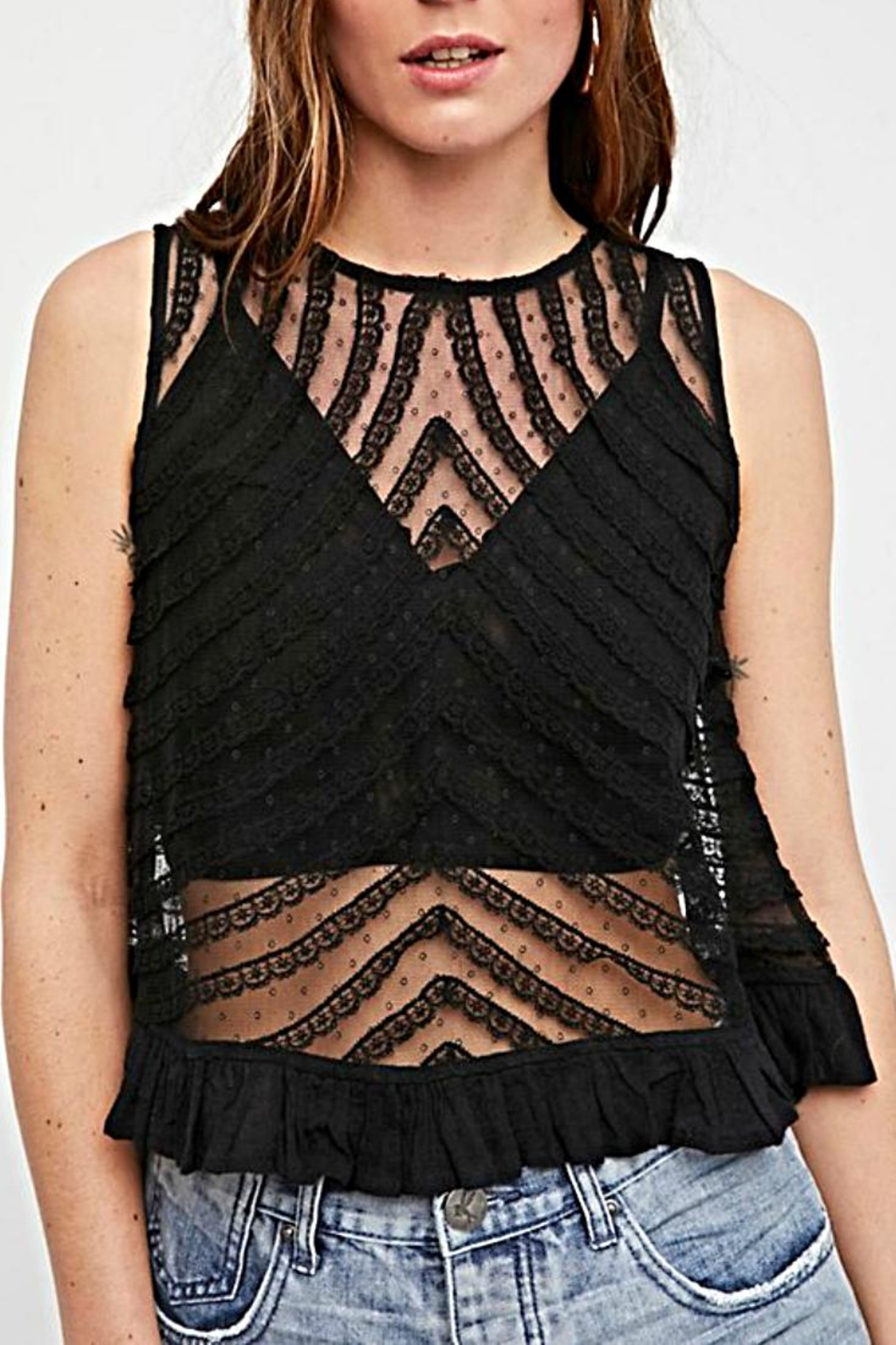 Free People Sheer Tank - Front Cropped Image
