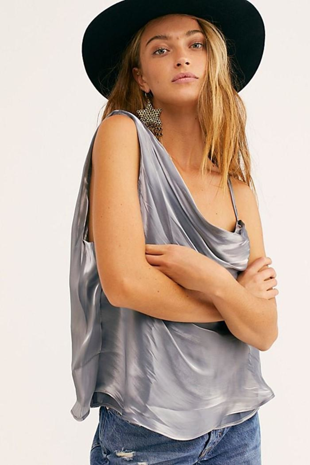 Free People Shimmy Shimmy Tank - Front Full Image