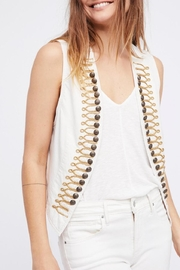 Free People Shrunked Military Vest - Product Mini Image
