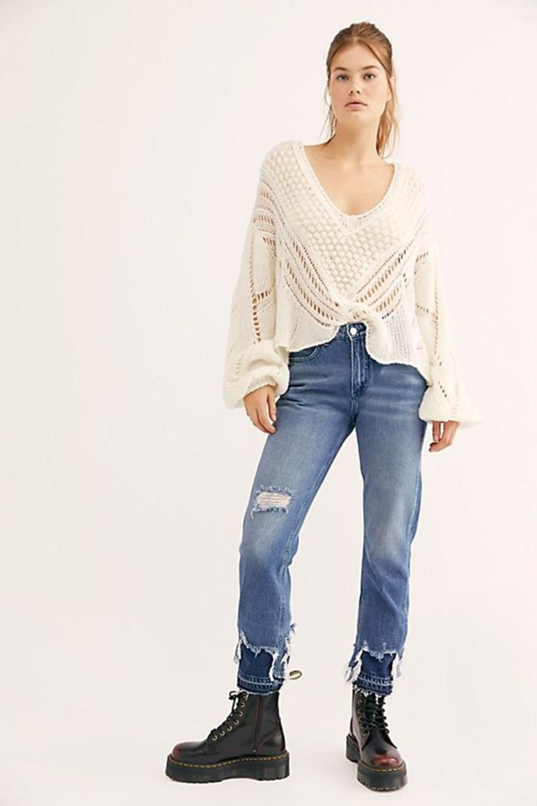 Free People Snowball Sweater - Side Cropped Image