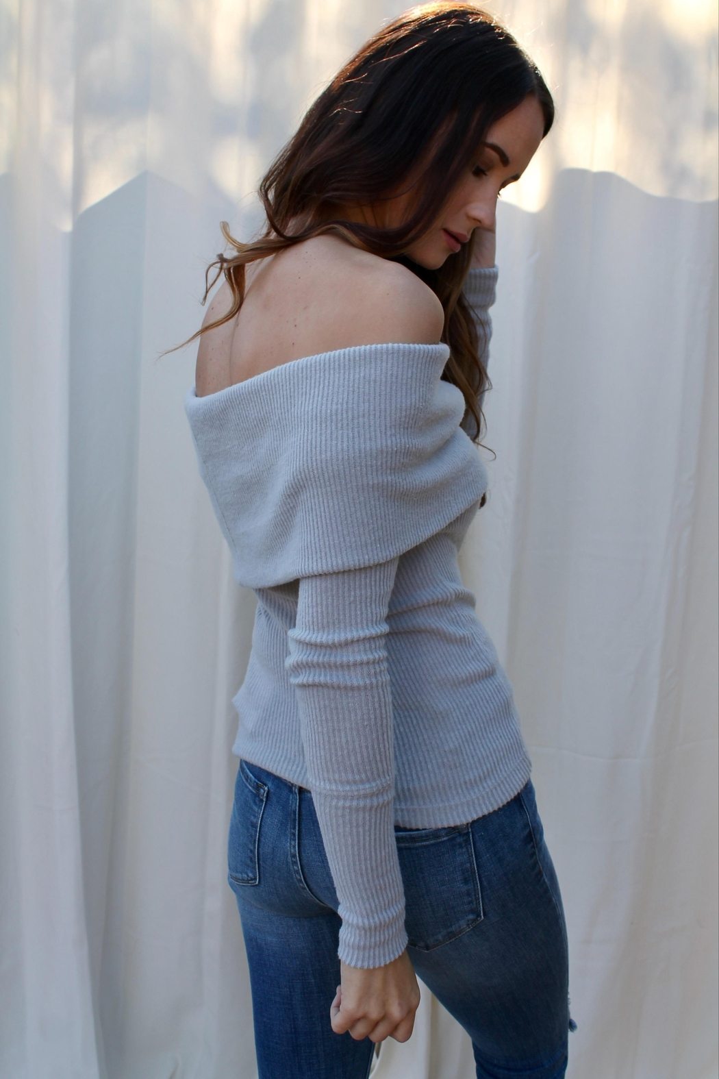 Free People Snowbunny Thermal Top - Back Cropped Image